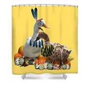 Indian Ducks Shower Curtain