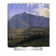 Indian Encampment Albert Bierstadt Shower Curtain