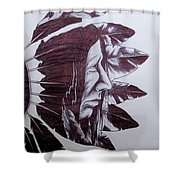 Indian Feathers Shower Curtain