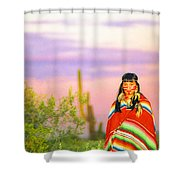 Indian Full Moon Southwest Sunset Shower Curtain
