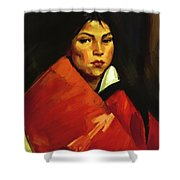 Indian Girl 1916 Shower Curtain