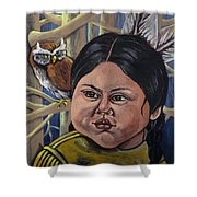Indian Girl In The Woods Shower Curtain