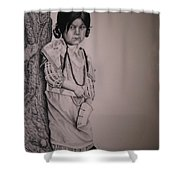 Indian Girl Shower Curtain