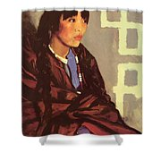 Indian Girl Of San Ildefonso 1917 Shower Curtain