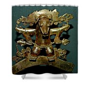 Indian Gold Shower Curtain