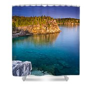 Indian Head Cove Sunrise  Shower Curtain
