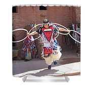 Indian Hoop Dancer Shower Curtain