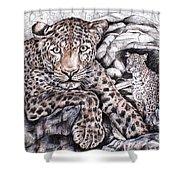 Indian Leopard Shower Curtain