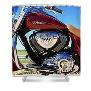Indian Moto Blue Sky 81116 Shower Curtain
