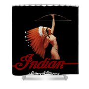 Indian Motorcycle Company Pinline Shower Curtain