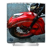 Indian Motorcycle Fender In Red Shower Curtain