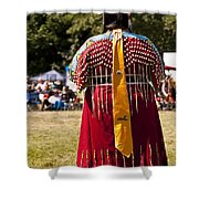 Indian Nation Pow Wow Dancers Shower Curtain