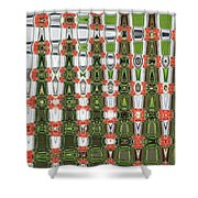 Indian Paint Pot Flower Abstract Shower Curtain