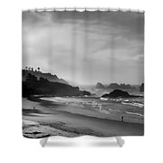 Indian Point Beach - Oregon Coast Shower Curtain