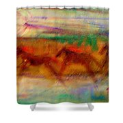 Indian Ponies Shower Curtain