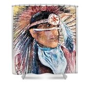 Indian Portrait Shower Curtain