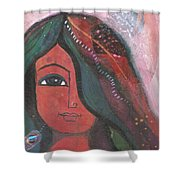 Indian Rajasthani Woman Shower Curtain
