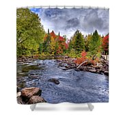 Indian Rapids Footbridge Shower Curtain