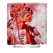 Indian Red Shower Curtain
