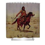 Indian Rider Shower Curtain