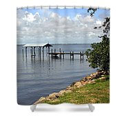 Indian River In Indialantic Florida Shower Curtain