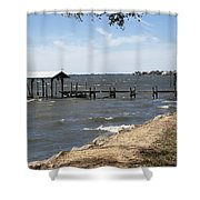 Indian River Lagoon At Indialantic Florida Shower Curtain