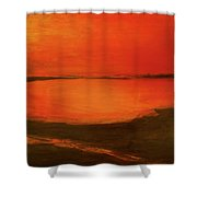 Indian River Reminiscence Shower Curtain