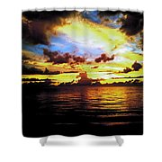 Indian Rocks Sunset Shower Curtain