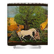 Indian Romance Shower Curtain