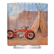 Indian Scout Shower Curtain