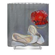 White Shoes  Shower Curtain