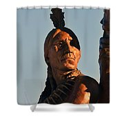 Indian Statue Shower Curtain