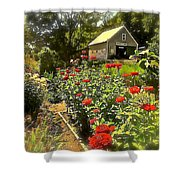 Indian Summer Garden Shower Curtain