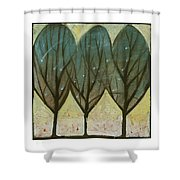 Indian Summer Snow Shower Curtain