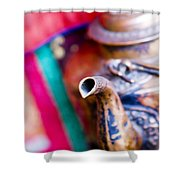 Indian Tea Kettle Shower Curtain