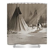 Indian Tee Pee Shower Curtain