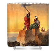 Indian Telegraph Shower Curtain by John Mix Stanley