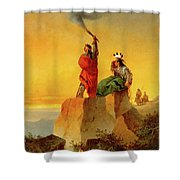 Indian Telegraph Shower Curtain