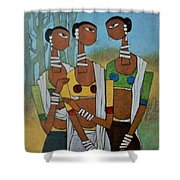 Indian Tribal  Shower Curtain