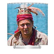 Indian Vii  6681 Shower Curtain