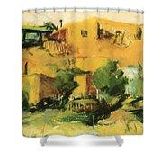Indian Village 1917 Shower Curtain
