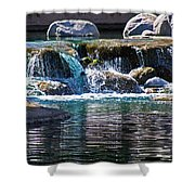 Indian Wells Waterfall Shower Curtain