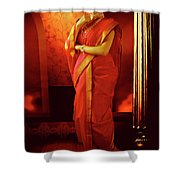 Indian Woman In Traditional 9 Yard Saree Shower Curtain