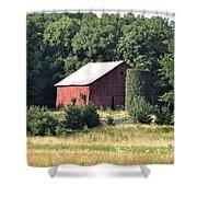 Indiana Barn Shower Curtain