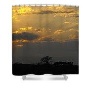 Indiana Farm Sunset 3 Shower Curtain