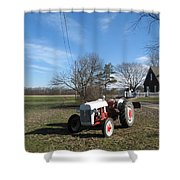 Indiana Hwy 63 South Vintage Ford Tractor Color Version Shower Curtain