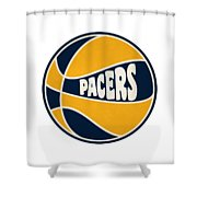 Indiana Pacers Retro Shirt Shower Curtain