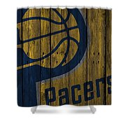 Indiana Pacers Wood Fence Shower Curtain