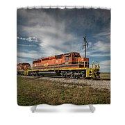 Indiana Southern Railroad Locomotives At Edwardsport Indina Shower Curtain