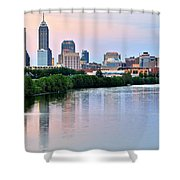Indianapolis At Dusk Shower Curtain